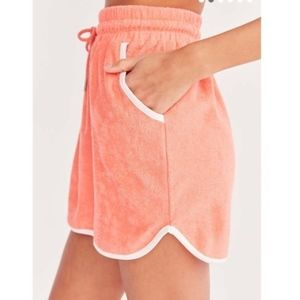 BDG Skirts - NWT BDG Dolphia Coral Terry Mini Skirt